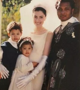 David Alexis with his family
