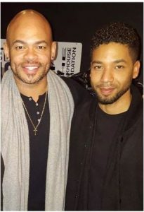 Jussie with his partner